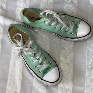 Adorable Mint Converse sneakers
